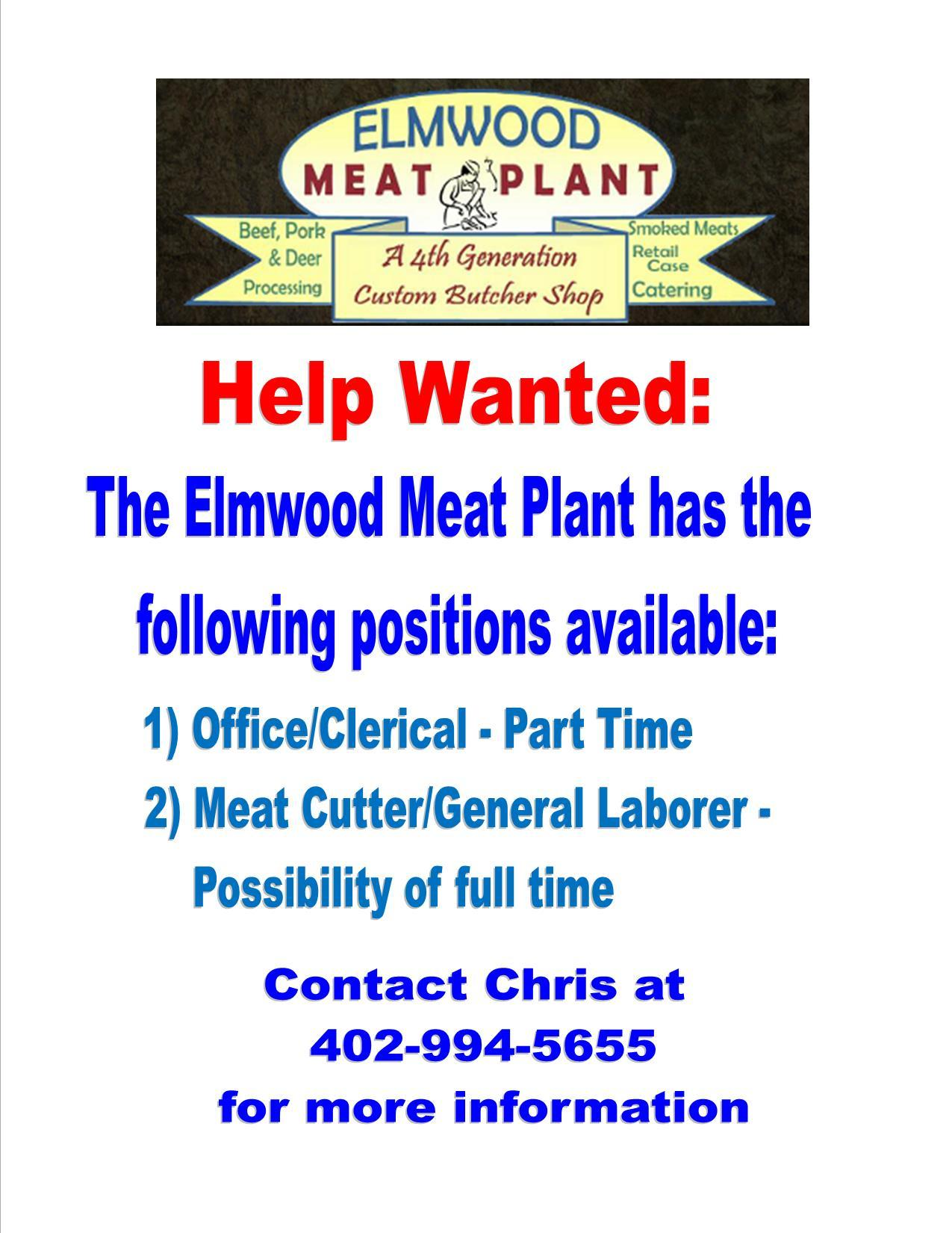 Elmwood Meat Plant