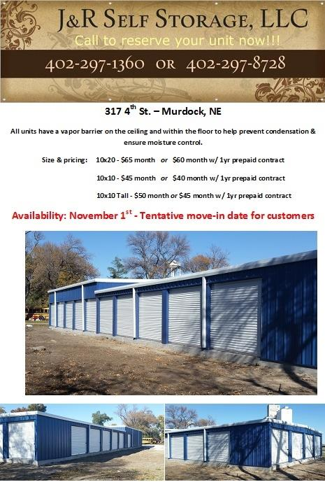JR Self Storage Flyer 2