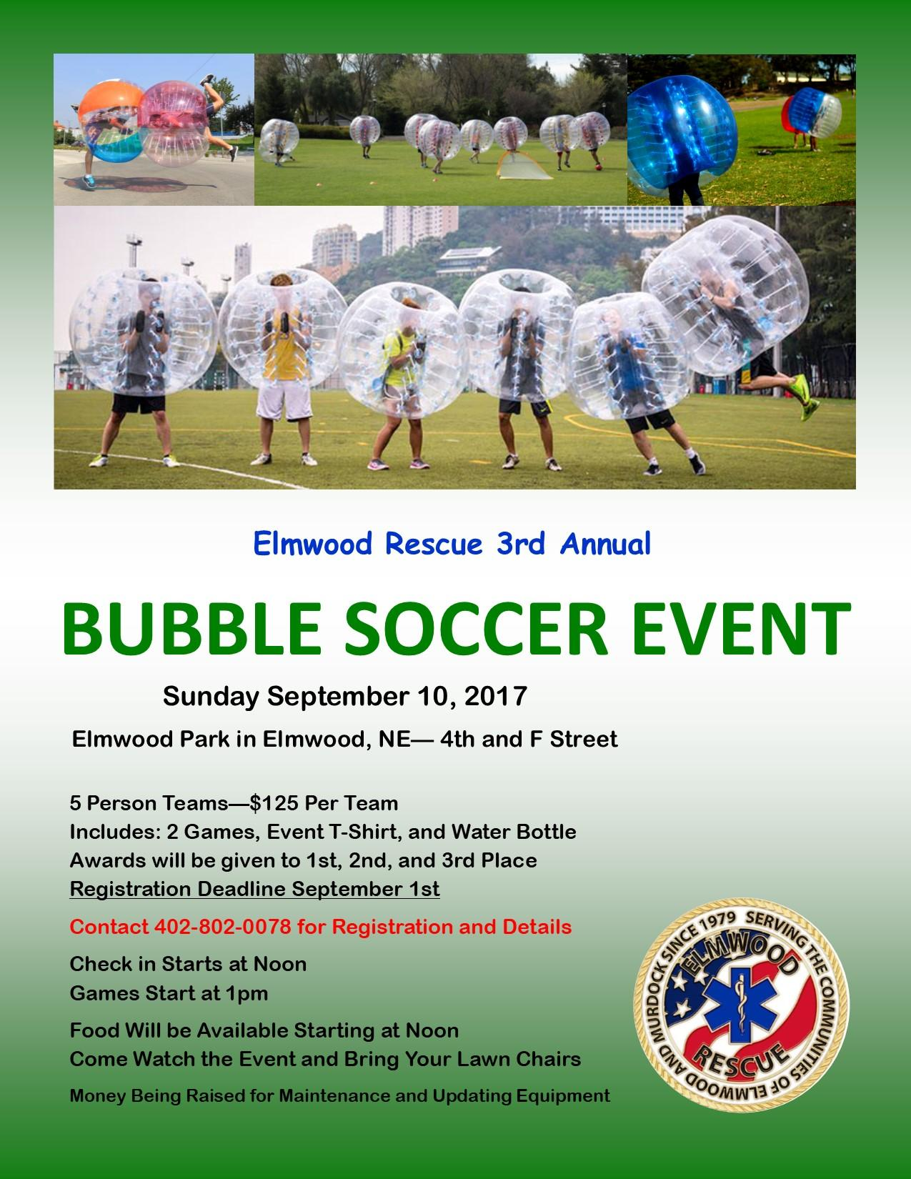 Bubble Soccer Flyer 2017
