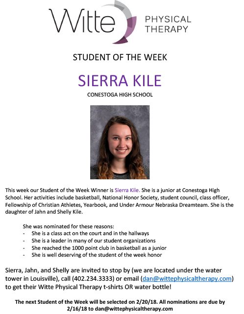 Student of the Week Selection 25