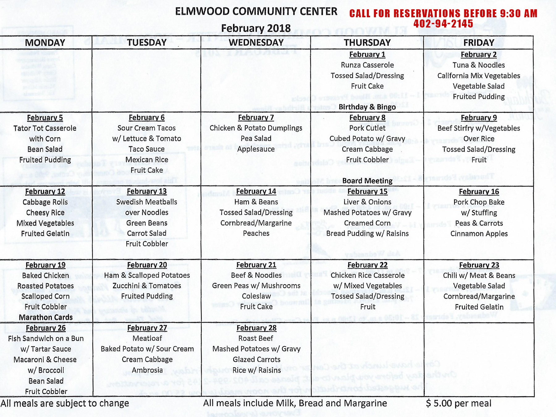Elmwoo CommunityCenter Menu 02 2018
