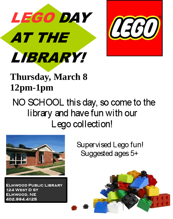 Elmwood library legoday 03012018