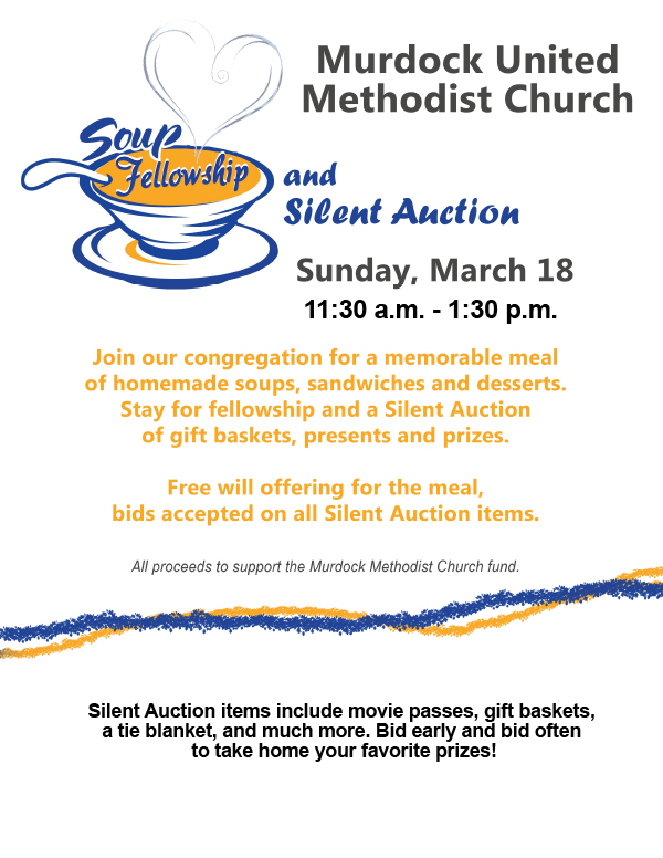 Soup and Silent Auction flyer