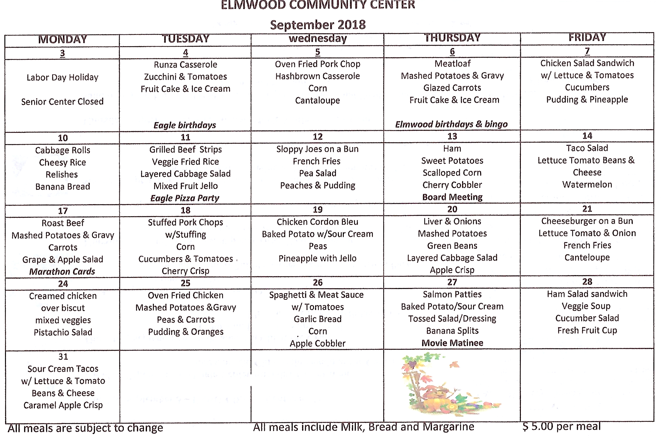 CommunityCenter menu 92018