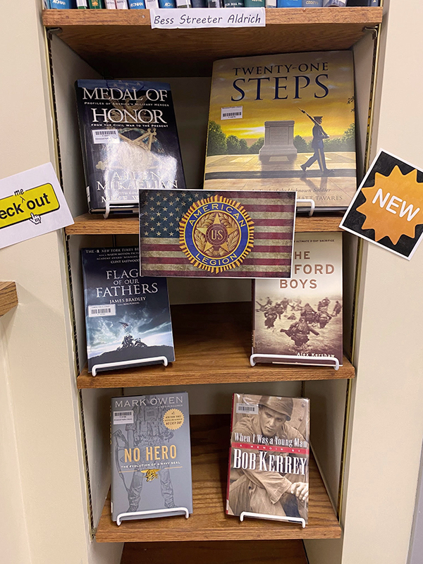 library veterans section