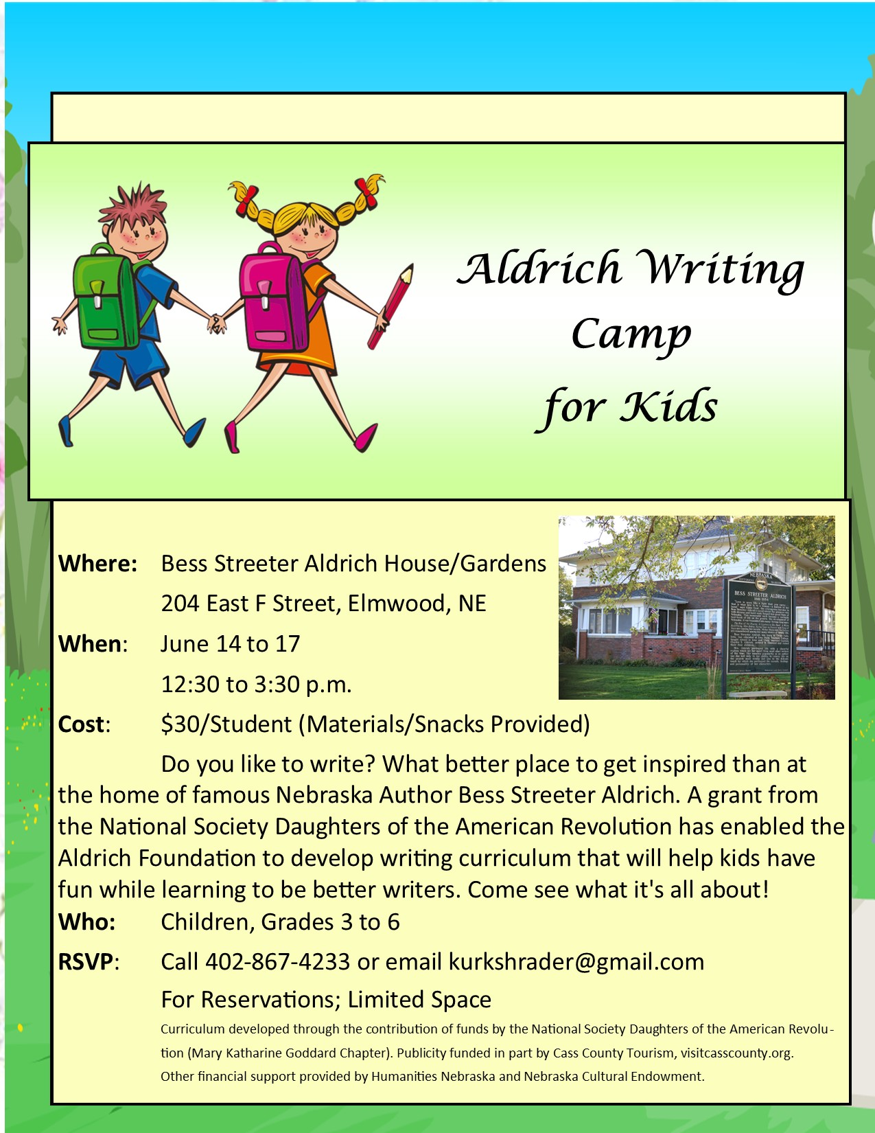 Aldrich Writing Camp 2021