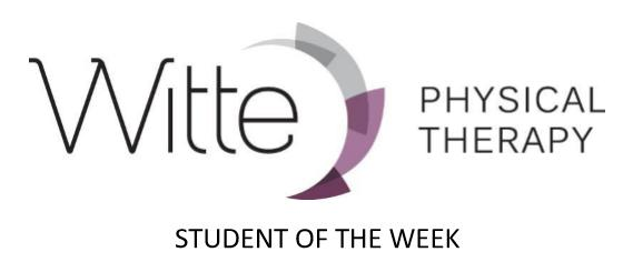 WittePhysical Therapy Studentofweek
