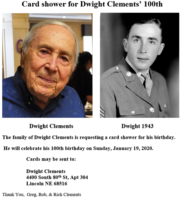 Dwight Clements 100th Bday