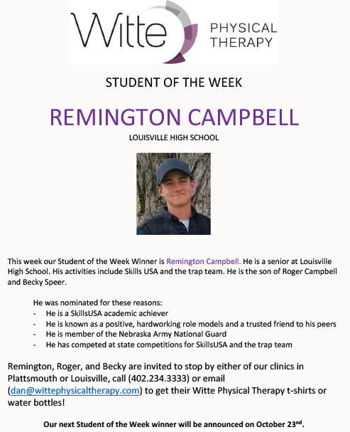 Student of the Week Selection 101619