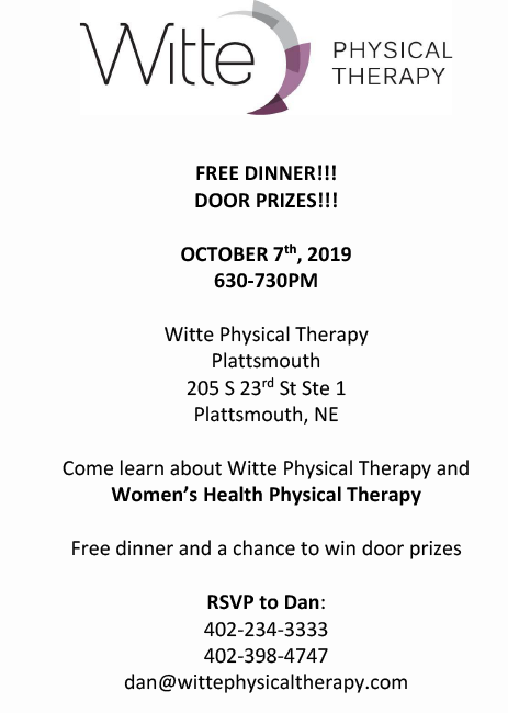 Witte Womens Health Physical Therapy Flyer