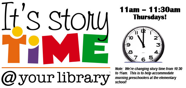 Story Time Promo elmwood library
