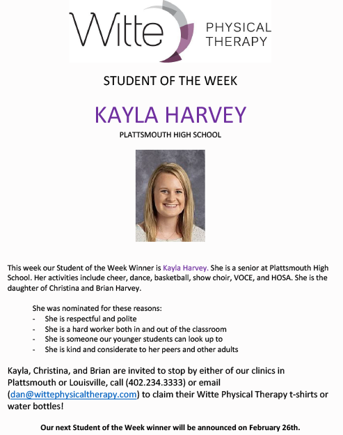 Student of the Week Selection 5