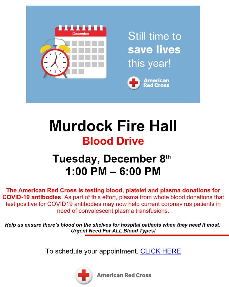 Murdock REd Cross Blooddrive 11 2020