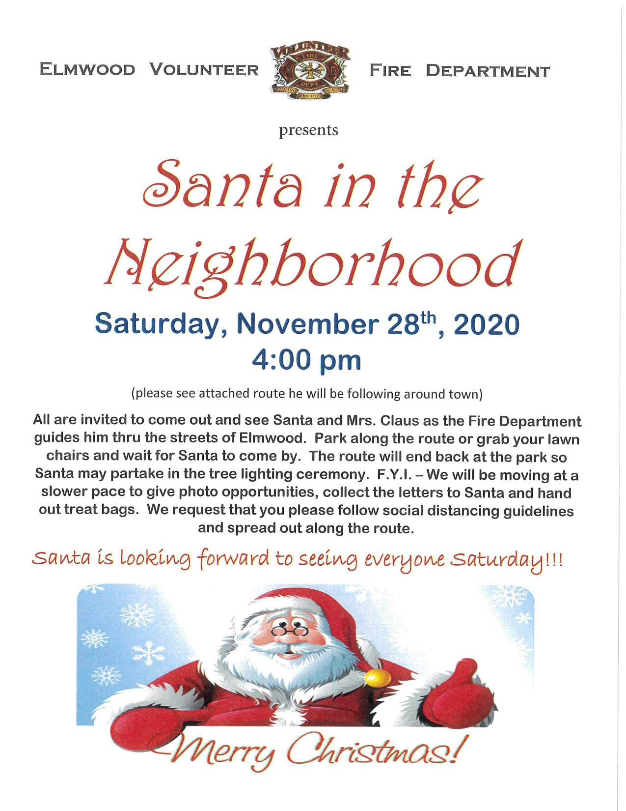 Santa in Neighborhood