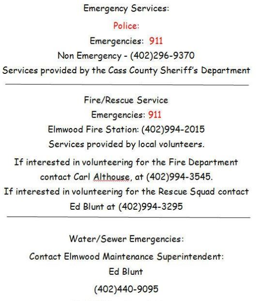Emergency services updated